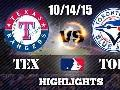 10/14/15 ALDS Game 5 ● Texas Rangers vs Toronto Blue Jays ● Full Hightlights