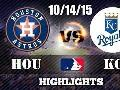10/14/15 ALDS Game 5 ● Houston Astros vs Kansas City Royals ● Full Hightlights