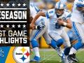Lions vs. Steelers - Post Game Highlights