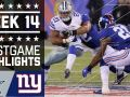 Cowboys vs. Giants - NFL Week 14 Game Highlights