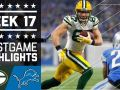 Packers vs. Lions NFL Week 17 Game Highlights