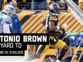 Antonio Brown Roasts the Dolphins Defense for TD!
