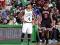 Incredible Rajon Rondo full court assist to Jimmy Butler