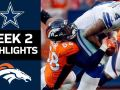 Cowboys vs. Broncos - NFL Week 2 Game Highlights