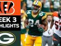 Bengals vs. Packers - NFL Week 3 Game Highlights