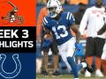 Browns vs. Colts - NFL Week 3 Game Highlights