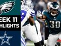 Eagles vs. Cowboys - NFL Week 11 Game Highlights