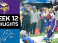 Vikings vs. Lions - NFL Week 12 Game Highlights