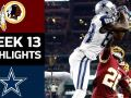Redskins vs. Cowboys - NFL Week 13 Game Highlights