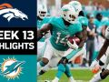 Broncos vs. Dolphins - NFL Week 13 Game Highlights