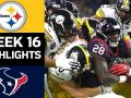 Steelers vs. Texans - NFL Week 16 Game Highlights