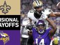 Saints vs. Vikings - NFL Divisional Round Game Highlights