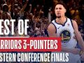 Best Of Warriors' Three Pointers From The Western Conference Finals!