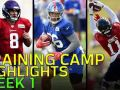 2018 Training Camp Highlights Week 1: Odell, Jackson, Wentz, Luck, & More!