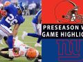 Browns vs. Giants Highlights - NFL 2018 Preseason Week 1