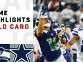Seahawks vs. Cowboys Wild Card Round Highlights