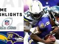 Chargers vs. Ravens Wild Card Round Highlights