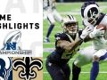 Rams vs. Saints NFC Championship Highlights