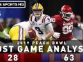 Oklahoma vs LSU Post Game Analysis: Tigers demolish Sooners in 2019 Peach Bowl