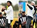AFC, NFC face off in 'Precision Passing' drill