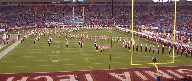 Virginia Tech Marching Band prior to the 2010 ACC Championship Game