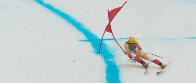 Manuel Osborne-Paradis at the Downhill competition at the 2010 Winter Olympics.