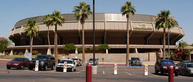 Wells Fargo Arena, home of the Arizona State Sun Devils, in Tempe, Arizona.