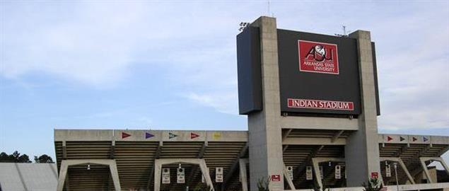 ASU Stadium is home of Jonesboro's ASU Red Wolves.