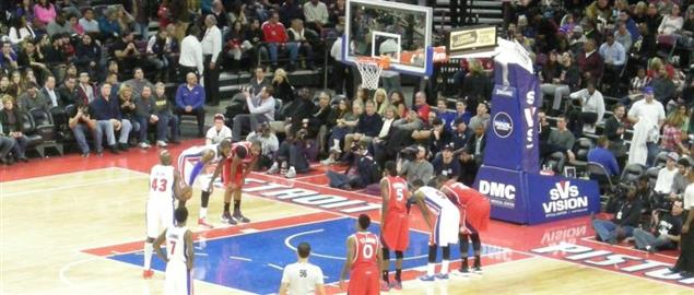 Atlanta Hawks vs. Detroit Pistons basketball game at The Palace of Auburn Hills