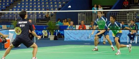 Doubles match at the 2007 Pan American Games in Rio de Janeiro