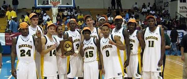 Baylor Team Photo from 2007, after winning the Paradise Jam Tournament.