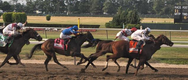Belmont Stakes stretch to the finish, 2010.