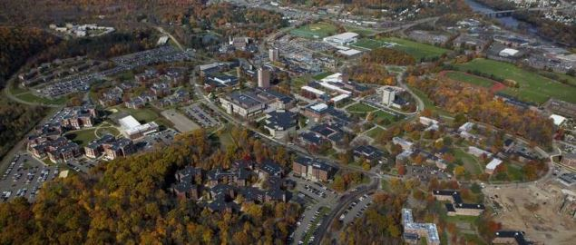 Aerial photo of Binghamton University