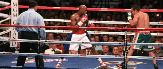 Floyd Mayweather vs Juan Manuel Márquez at MGM Grand Arena, 9/19/2009.