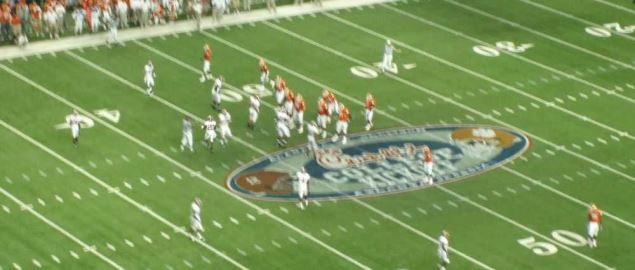 Alabama versus Clemson on 30 August 2008