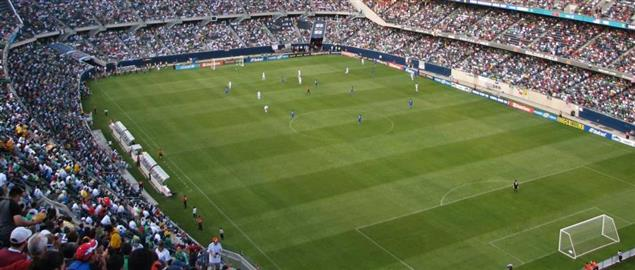 Soldier Field, Chicago Illinois during the semifinals of the Gold Cup 2009. USA v Honduras