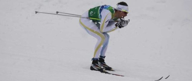 Sweden brings home the gold in the men's 4x10 KM cross-country skiing relay.