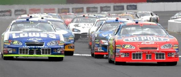 Sprint Cup Series race cars at Sonoma Raceway