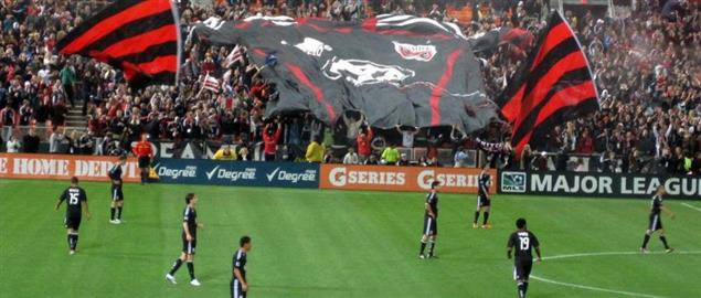 D.C. United taking the field before the start of a home match