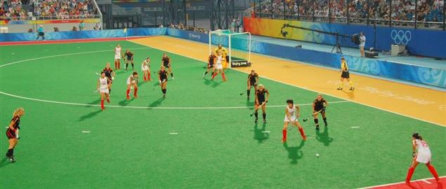 Field hockey (F) at the Beijing Olympics - Germany v. China, semi-final