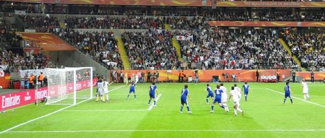 USA corner kick against Japan from 2011