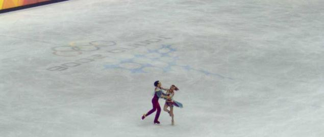 Pair figure skating at the 2006 Torino Winter Olympics.