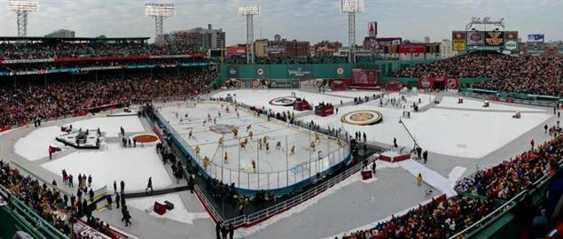 Panorama of park at the 2010 NHL Winter Classic