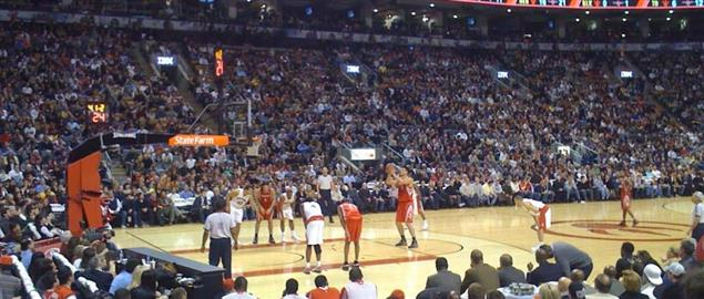 Toronto Raptors home game versus Houston Rockets