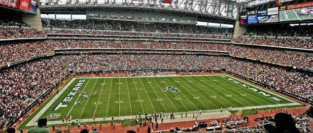 Interior of Reliant Stadium, home of the Houston Texans.