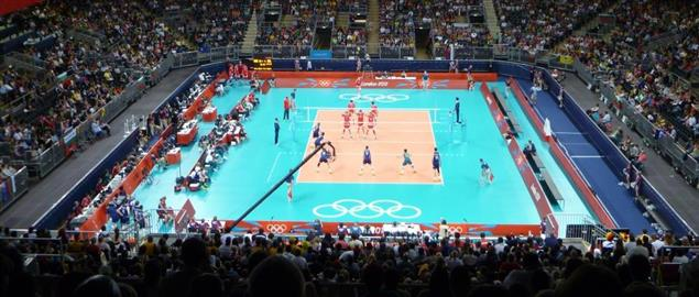 Earls Court hosting a volleyball match of the 2012 Olympic Games