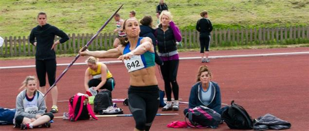 Javelin event at Yorkshire Track and Field Championship, 5/13/2012