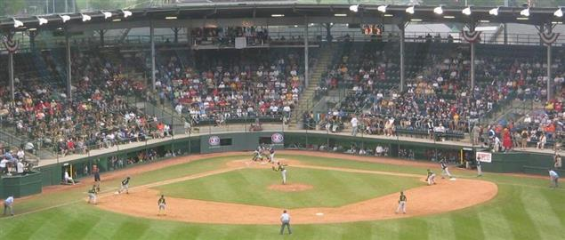 Little League World Series game being played in Howard J. Lamade Stadium