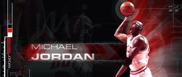 Michael Jordan graphic, as the greatest of all time