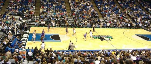 Minnesota Timberwolves at Target Center in 2005 home game.